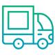 gradient icon truck